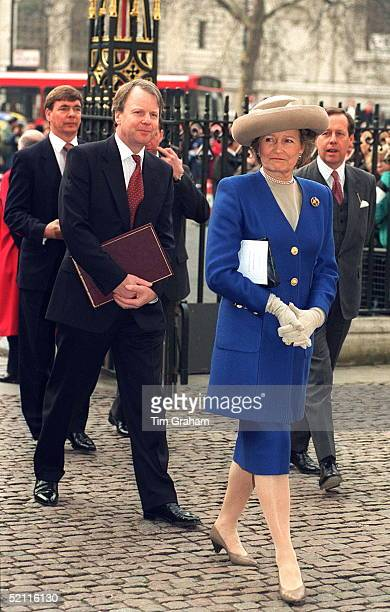 The Queen's Staff Attending The Commonwealth Day Observance At Westminster Abbey Ladyinwaiting Lady Farnham Private Secretary Sir Robin Janvrin...