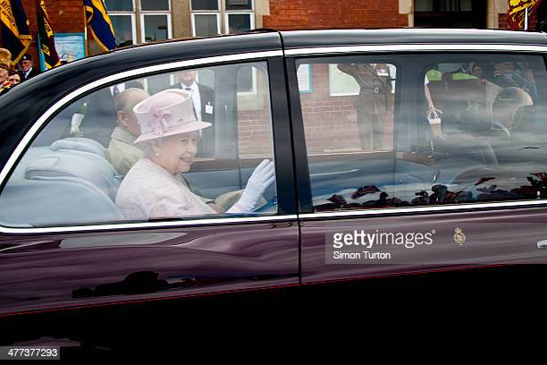 CONTENT] The Queens vist to Hereford during the Jubilee seen here leaving Hereford Railway Station