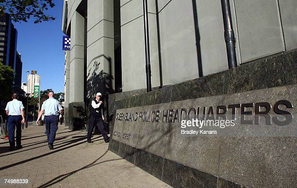 The Queensland Police Headquarters is seen on July 3 2007 in Brisbane Australia Authorities have confirmed that Australian police arrested a man at...