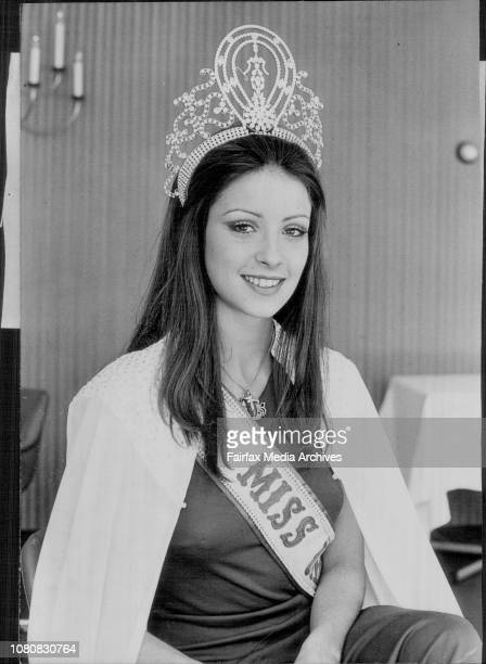 The Quest of Quests organisers today held a press conference at the Gazebo Hotel to officially welcome Miss Universe 1974 Amparo Munoz 20 years old...