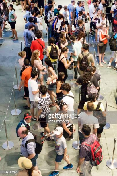 The queue at the ticket desk at the Museum of Modern Art