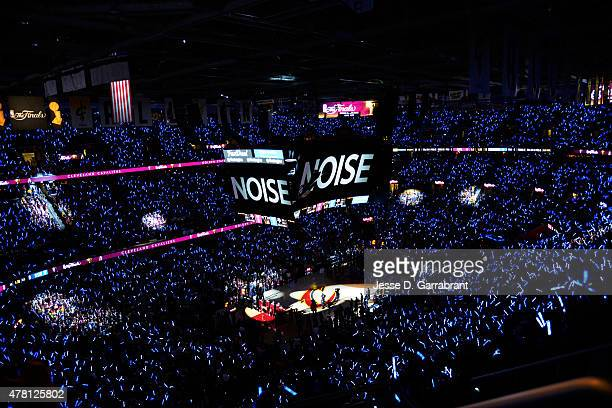 The Quicken Loans Arena during Game Six of the 2015 NBA Finals between the Golden State Warriors and Cleveland Cavaliers on June 16 2015 in Cleveland...
