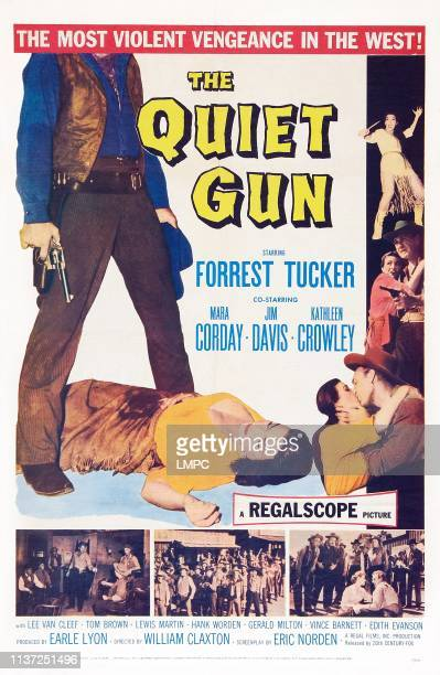 The Quiet Gun poster US poster art Mara Corday Forrest Tucker 1957
