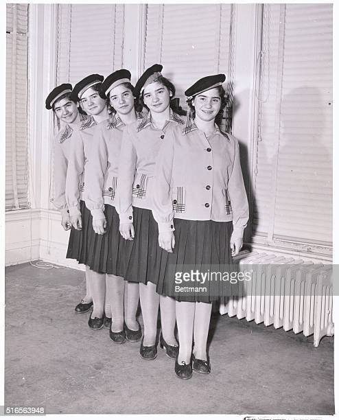 The Quintuplets Posing in their sailor outfits