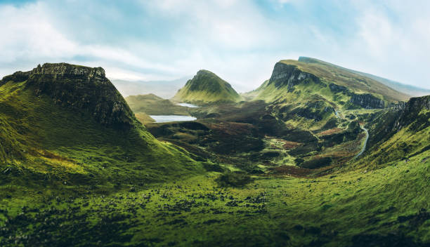 the quiraing - horizontal stock pictures, royalty-free photos & images