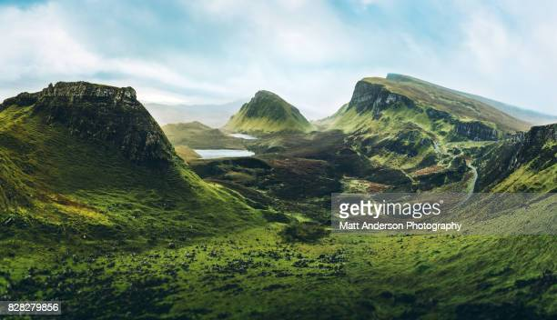 the quiraing - mountain range stock pictures, royalty-free photos & images
