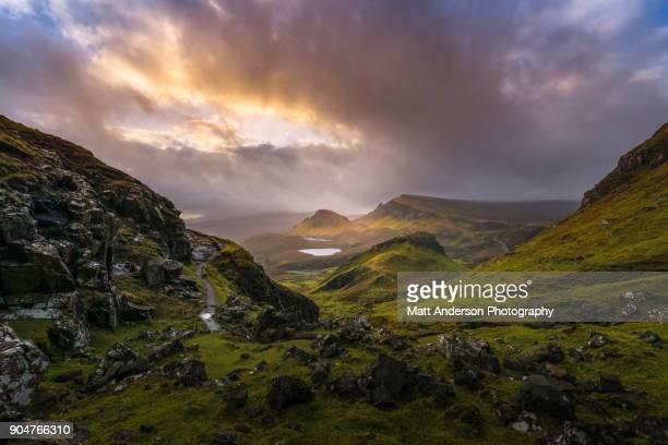 the quiraing  - scotland #5 - 荒野 ストックフォトと画像