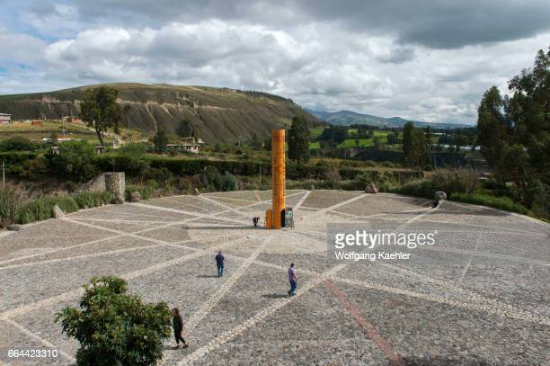 The Quitsato equator monument and sundial near Cayambe in the highlands of Ecuador near Quito