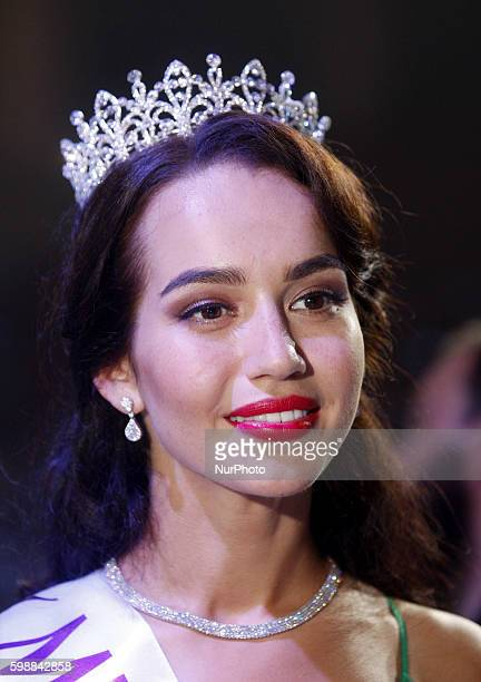 The quotMiss Ukraine Earth 2016quot 21yearold Alena Belova during the gala in Kiev on 02 September2016 The winner of the quotMiss Ukraine2016quot...