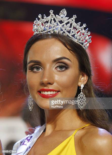 The quotMiss Ukraine International 2016quot 23yearold Victoria Kyose during the gala in Kiev on 02 September2016 The winner of the quotMiss...