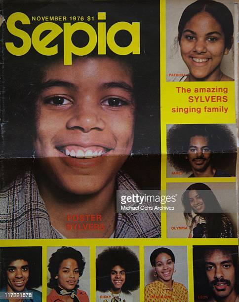 The R and B group The Sylvers is featured on the Cover of the November 1976 issue of Sepia magazine.