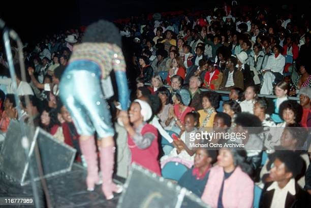 The R and B group The Sylvers perform at the Santa Monica Civic in March 3, 1974 in Santa Monica, California.