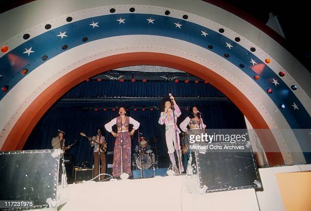 December 19: The R and B group The Sylvers perform live at Disneyland on December 19, 1975 in Anaheim, California.