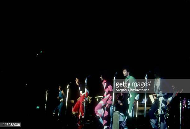 The R and B group The Sylvers perform live at the Forum on February 3, 1973 in Inglewood, California.