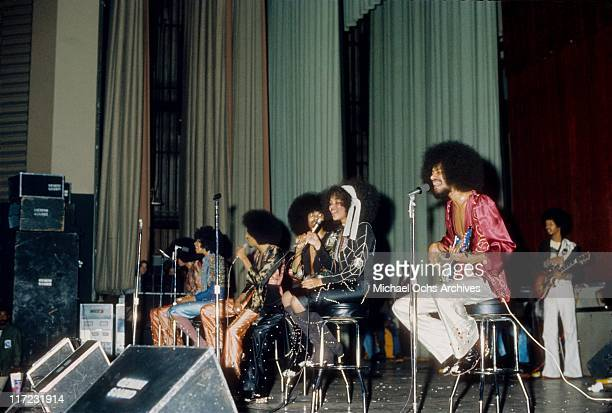 The R and B group The Sylvers performs at the Santa Monica Civic in March, 1974 in Santa Monica, California.