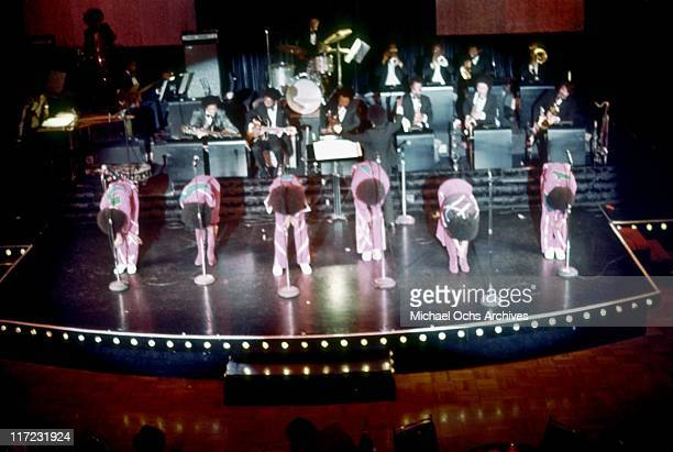 The R and B group The Sylvers performs circa 1973 in Los Angeles, California.