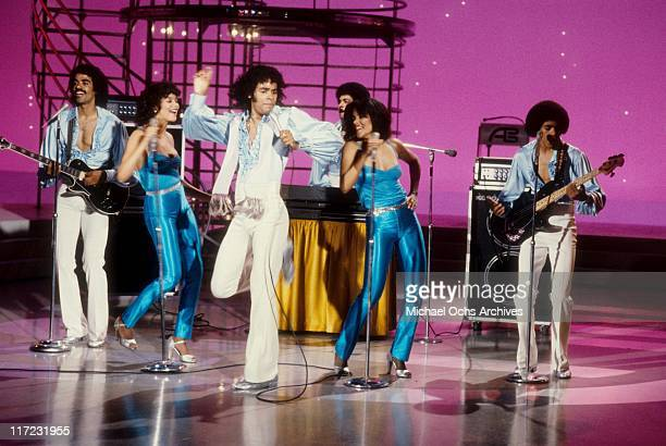 The R and B group The Sylvers performs on American Bandstand in 1979 in Los Angeles, California.