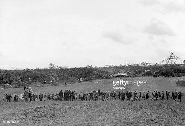 The R101 Airship after making two unexpected dives over Beauvais near Paris hits the ground with only six survivors from the 54 passengers 5th...