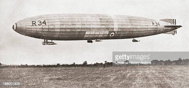 The R34 British Rigid Airship In 1919 First Aircraft To Make An EastToWest Crossing Of The Atlantic Ocean From The Story Of Seventy Momentous Years...