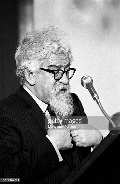 The rabbi and Polish philosopher Abraham Joshua Heschel speaks at the international congress on resuscitation the rabbi was invited to speak to give...