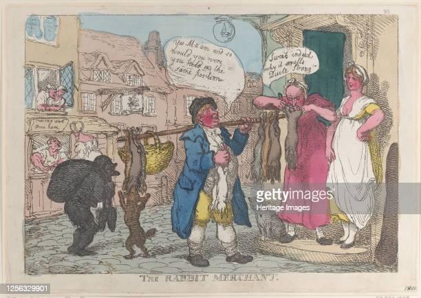 The Rabbit Merchant 1810 Artist Thomas Rowlandson