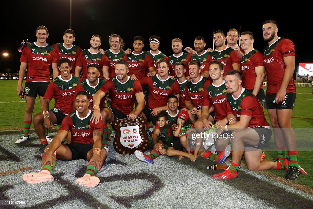 NRL Trial: Charity Shield - Dragons v Rabbitohs : News Photo