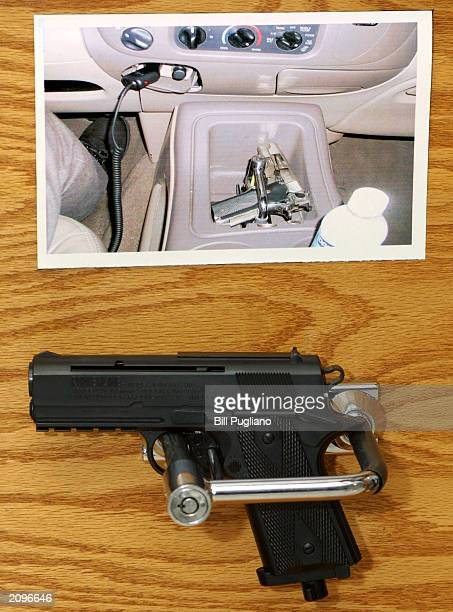 The RAC a new gunlocking system is shown to the media at a news conference June 19 2003 in Detroit Michigan The RAC is available in a threeinch model...