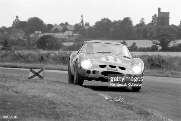 The RAC Tourist Trophy Goodwood August 24 1963 Graham Hill in the Ferrari 250GTO through Fordwater A really fantastic photograph