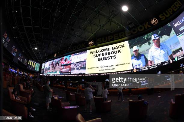The Race Sports SuperBook at the Westgate Las Vegas Resort Casino features new screens on its entire 240by20 foot488squarefoot HD video layout after...