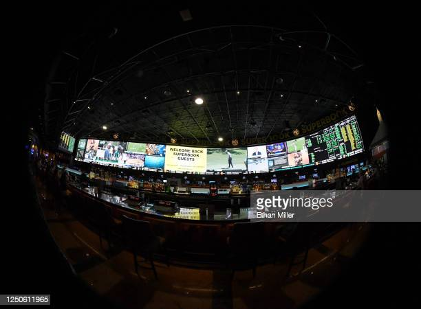 The Race & Sports SuperBook at the Westgate Las Vegas Resort & Casino features new screens on its entire 240-by-20 foot 488-square-foot HD video...