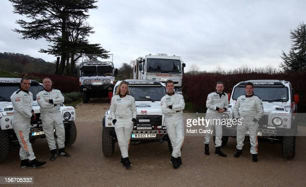 The Race2Recovery team of injured soldiers and civilians Mark Zambon Ben Gott Cathy Derousseaux Anthony Harris Justin Birchall and Thomas Neathway...