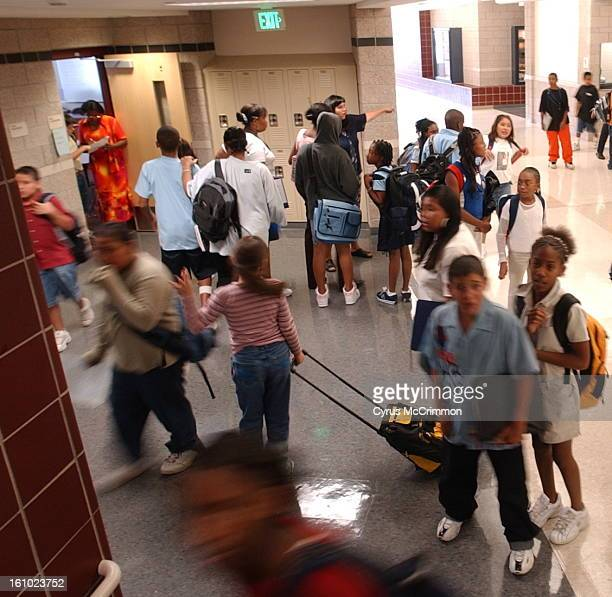 DENVER CO TUESDAY AUGUST 17 2004 The Rachel Bassette Noel Middle School is filled to it's enrollment capacity for the third year in a row Students...