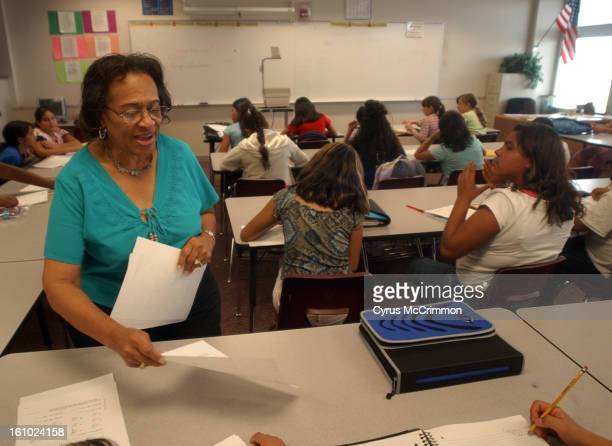 DENVER CO TUESDAY AUGUST 17 2004 The Rachel Bassette Noel Middle School is filled to it's enrollment capacity for the third year in a row In a...