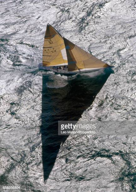 The racing boat New Zealand off Fremantle Australia during the trials for the America's Cup circa February 1987