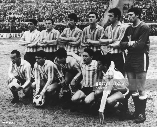 The Racing Club de Avellaneda football team a month before they are due to meet Celtic in the World Club Championship 13th September 1967 Back row...