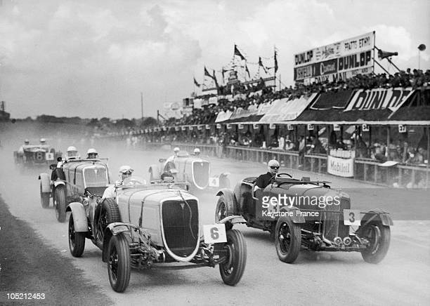 The Racing Driver Bill Sullivan Driven A Ford V8 And His English Opponent John Cobb In A Lagonda M45 Behind W T Mccall In A Ford V8 Participate In...