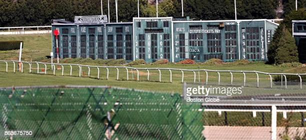 The racing results scoreboard at the shuttered Suffolk Downs horse racing track in Boston is pictured on Oct 19 2017 Suffolk Downs is the primary...