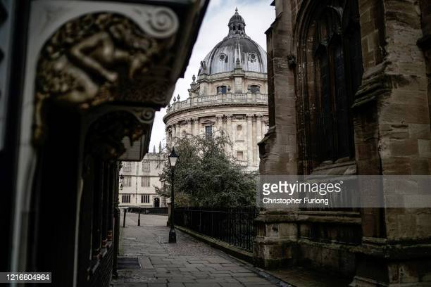 The Radcliffe Camera is deserted after university students have been sent home and the tourists are staying away Oxford's streets and colleges of...