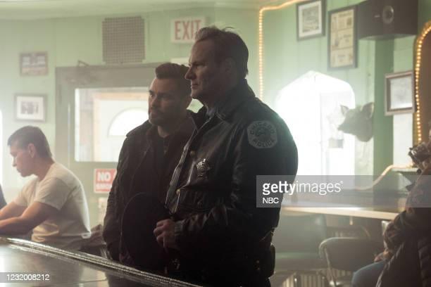 "The Radical Truth"" Episode 810 -- Pictured: Patrick John Flueger as Adam Ruzek, Jack Coleman as Bob Ruzek --"