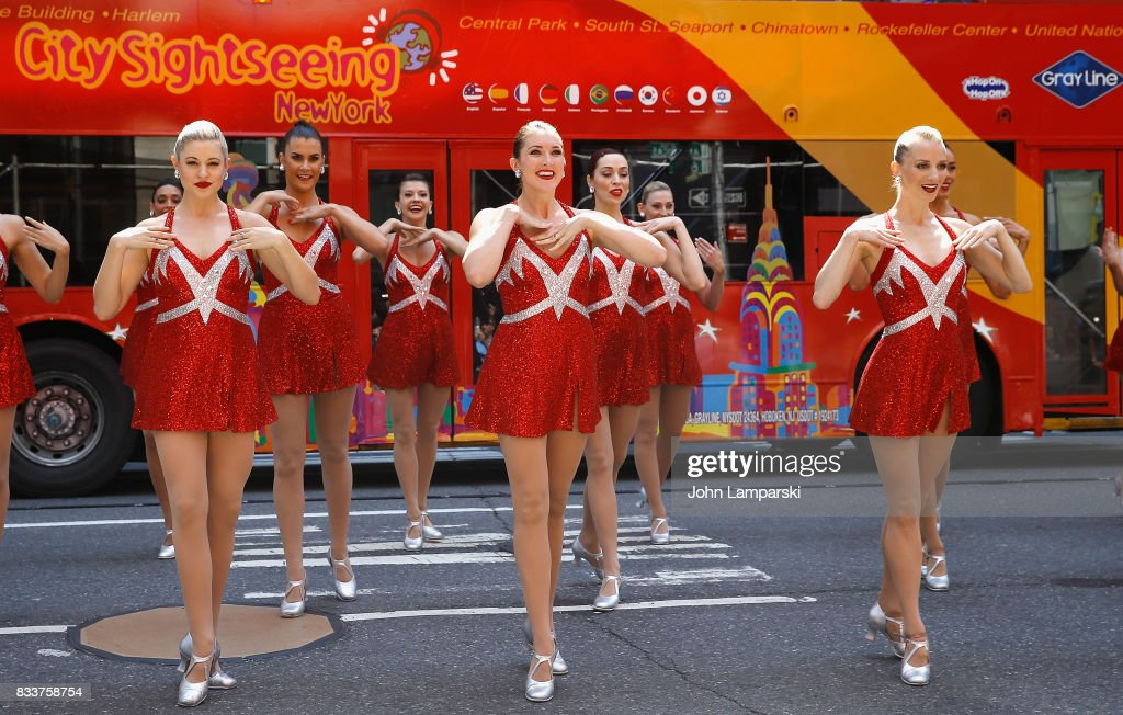 The Radio City Rockettes Christmas in August 2017 perform on August 17, 2017 in New York City.