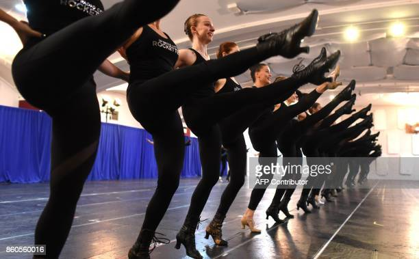 The Radio City Rockettes kick off rehearsals in New York October 12 2017 for the 2017 Christmas Spectacular Starring the Radio City Rockettes as they...