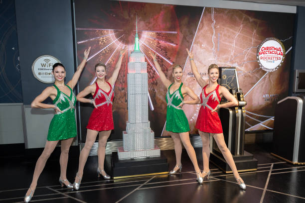 NY: The Radio City Rockettes Light The Empire State Building