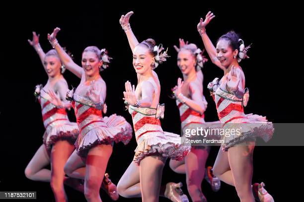 The Radio City Rockettes perform onstage during the opening night of the 2019 Christmas Spectacular Starring The Radio City Rockettes at Radio City...
