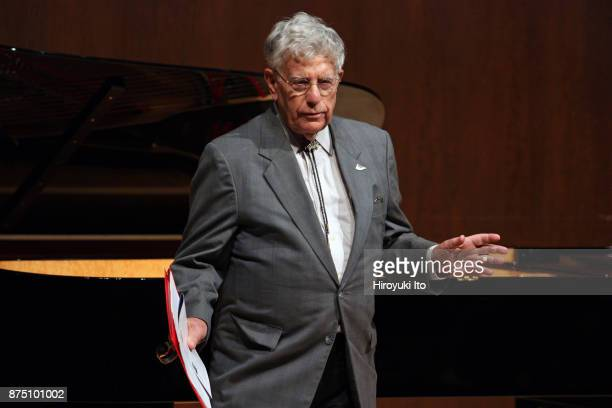 The radio host Robert Sherman introducing the winners of the 2017 Gina Bachauer Piano Competition at Paul Hall at the Juilliard School on Tuesday...