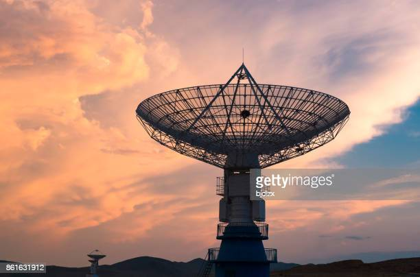 The radio spectral imager under sunset clouds