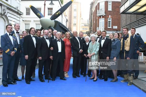The RAF Reenactors guest David Fairhead Ant Palmer Allan Scott Carol Vorderman Charles Dance Mary Ellis and Joan Franshawe attend the World Premiere...