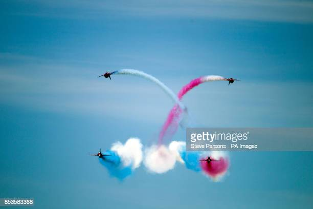 The RAF's Red Arrows perform over Southsea Common in Hampshire to mark the 70th Anniversary of the DDay landings