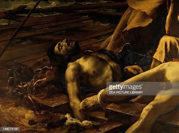 The raft of the Medusa 18181819 by JeanLouis Theodore Gericault oil on canvas 491x716 cm Detail Paris Musée Du Louvre