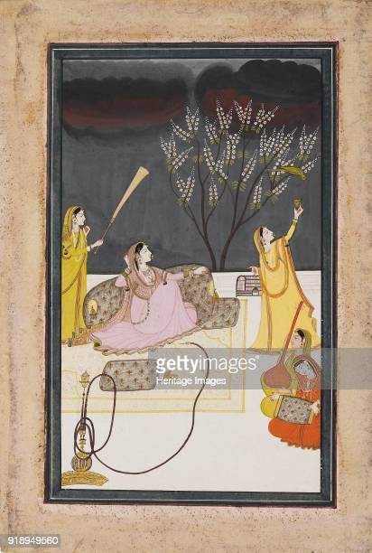 The Ragini Dhanasari of the Raga Dipaka circa 1820 Dimensions height x width mount 555 x 402 cmheight x width page 275 x 19 cmheight x width painting...