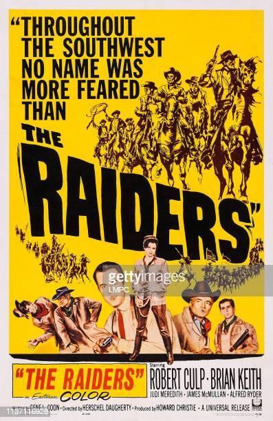 The Raiders poster US poster art bottom Robert Culp Judi Meredith Brian Keith James McMullan 1952